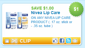 Nivea Lip Care Product Printable Coupon. Nov $1 off any One Nivea Lip Care Productoz Stick oroz Tube)(Facebook Coupon) Posted on November 17th, by Steph Links in the post may contain affiliate links. Please read our full disclosure.
