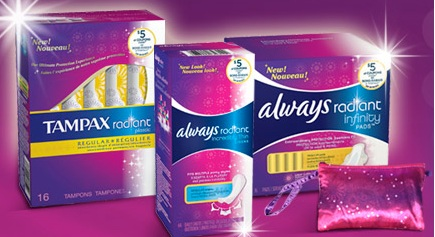 Tampax Radiant coupons & freebie
