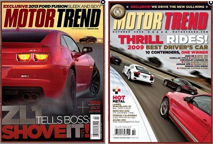 Motor Trend Magazine A Year