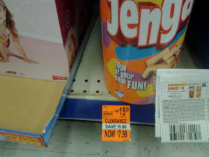 Jenga with Coupon