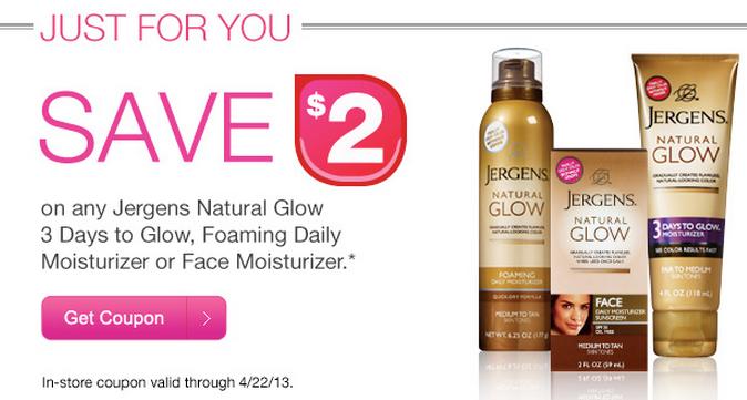 Jergens natural glow coupons
