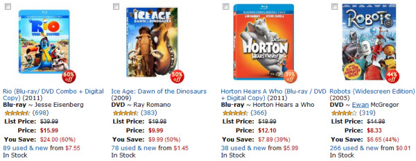Amazon Animated Movies Sale
