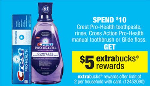 Crest Pro-Health Sale (CVS 6-9)