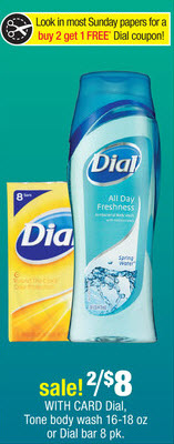 Dial Body Wash & Bar Soap Sale (CVS 6-16)