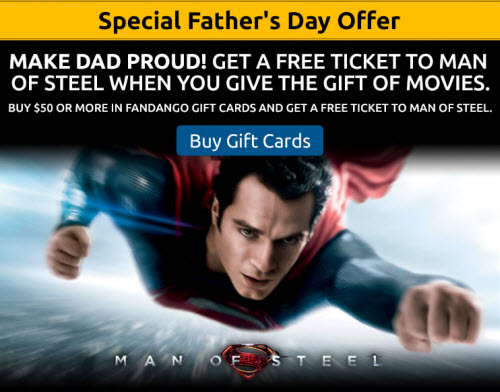 Fandango Father's Day Offer