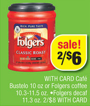 Folgers Coffee Sale (CVS 6-16)