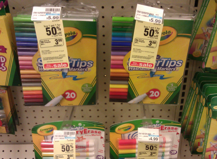 crayola washable markers just 2 49 each