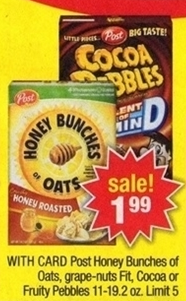 Post Pebbles Cereal Sale (CVS 8-11)