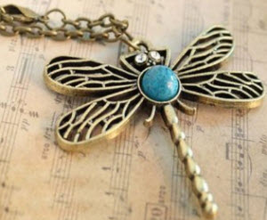 Amazon Vintage Dragonfly Pendant Necklace