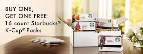 B1G1 FREE Starbucks K-Cup Packs