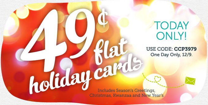 Cardstore $0.49 Holiday Cards