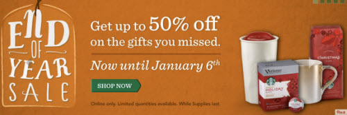 Starbucks End of Year Sale