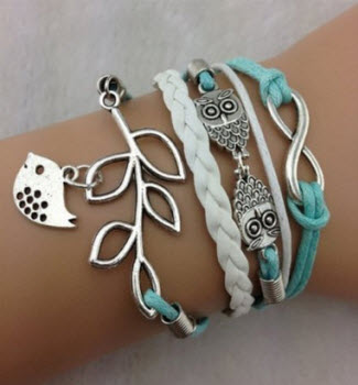 Amazon Vintage Handmade Infinity Silver & Leather Bracelet