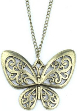 Amazon Vintage Butterfly Pendant Necklace