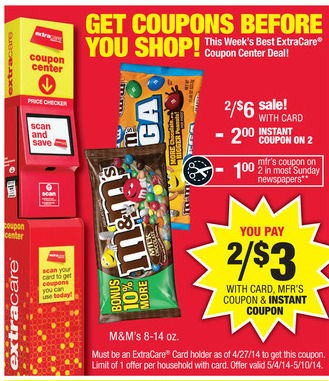 m&m cvs ad
