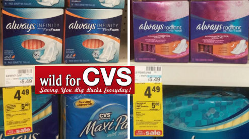 Tampax & Always $1.49 Each!