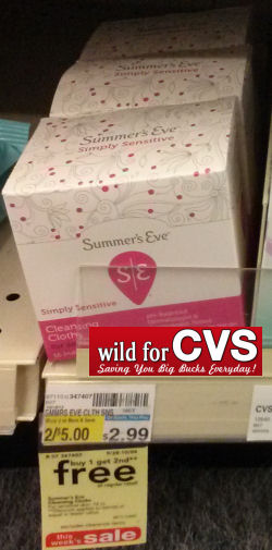 Summer's Eve Cleansing Cloths As Low As 50¢!