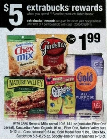 General Mills Snacks As Low As 80¢ Each 9/28!