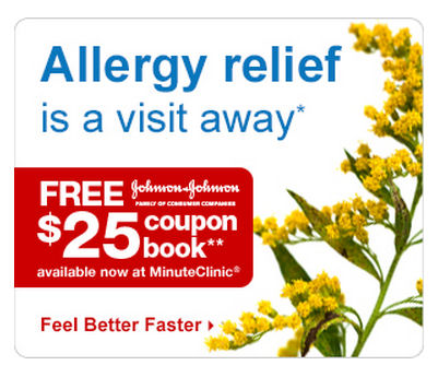 New $25 J&J Allergy Relief Coupon Book At Your Minute Clinic!