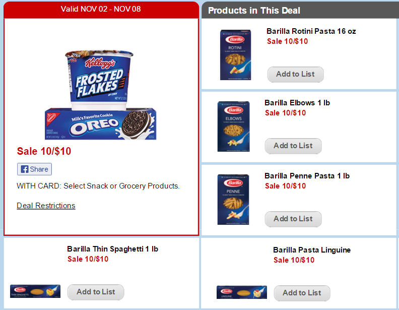 Print Now for 67¢ Barilla Pasta Next Week!