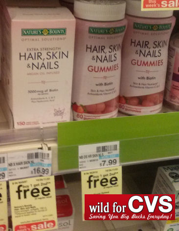 Save 67% off on Nature's Bounty Optimal Hair, Skin & Nails Gummies!