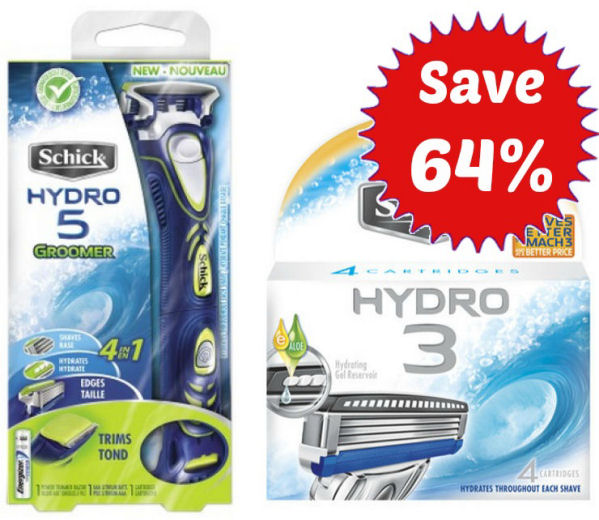 Save 64% on Schick Groomer & Refill 11/2!