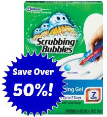 Save Over 50% on Scrubbing Bubbles Toilet Gel 11/2!