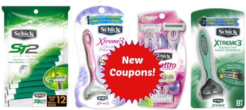 New Coupons for Schick Disposable Razors!