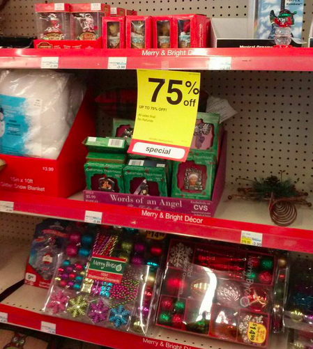 keep in mind after christmas clearance tends to be regional at cvs so although my area went to 50 off some areas may be at 25 off and others went - Cvs Christmas Clearance