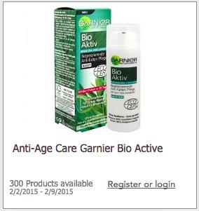 Get Paid to Try Garnier Bio Active Anti-Age Cream!