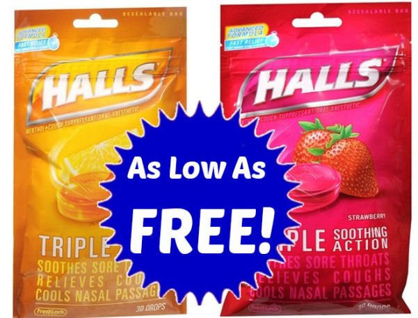 Halls Cough Drops As Low As Free