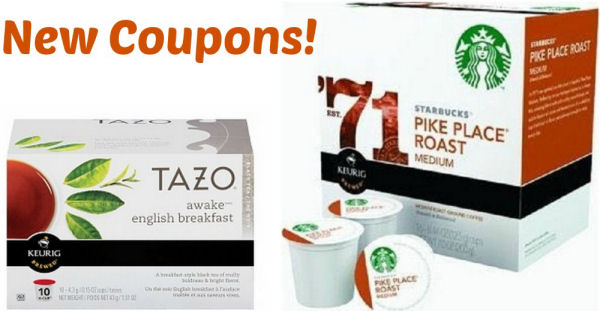 Starbucks Tazo K Cups coupons
