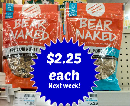 New Bear Naked Granola Coupon = $2.25 Next Week!
