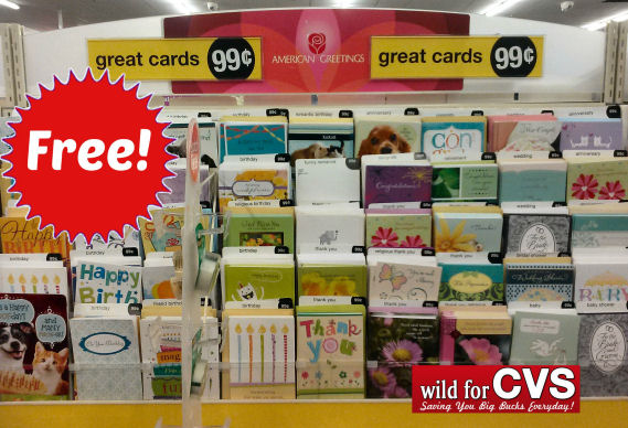 pick up free greeting cards at cvs