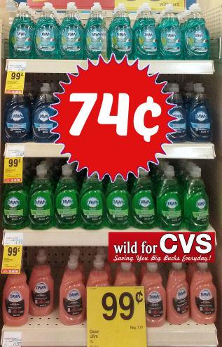 Dawn Dish Washing Liquid Just 74¢!