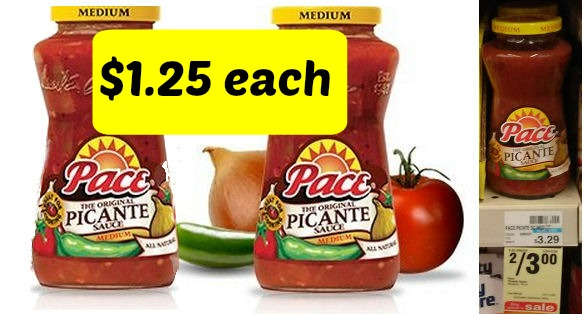 New Coupon for Pace Picante Sauce - Just $1.25 Each!
