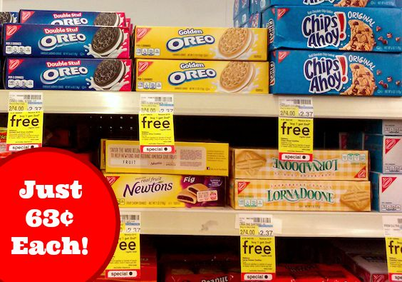 Nabisco Cookies Just 63 cents