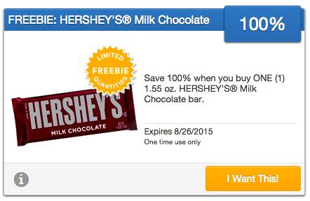 Free Hershey's Chocolate Bar