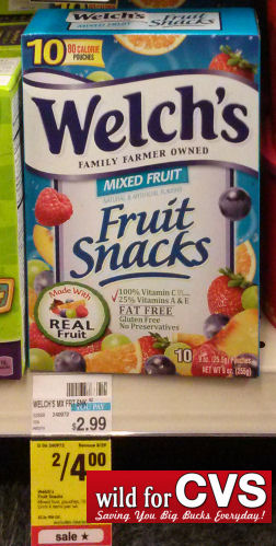 Welch's Fruit Snacks Just $1.50 Per Box!