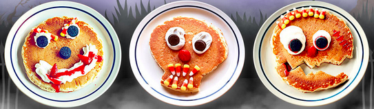 Free Scary Faced Pancake