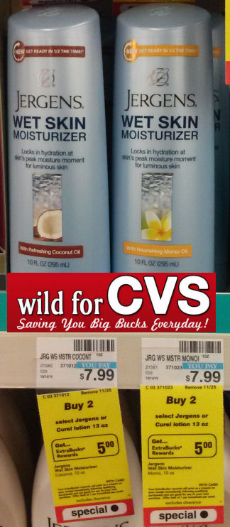 Jergens Wet Skin Lotions $3.49 or Less!