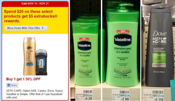 Vaseline & Dove Men+Care As Low As $1.41!