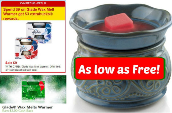 glade wax melt warmer deal