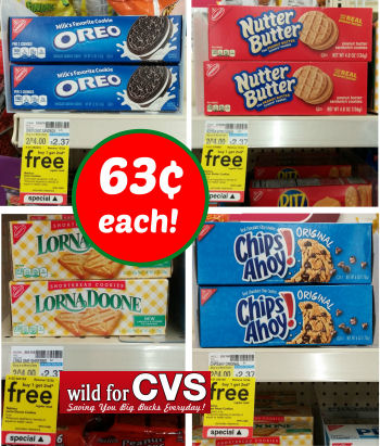 Nabisco Cookies 63¢ Each!