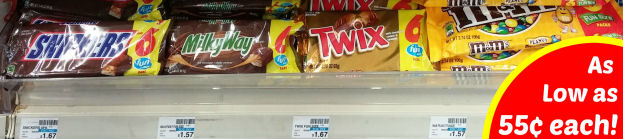 Mars Fun Size 6 Packs As Low As 55¢ Each!