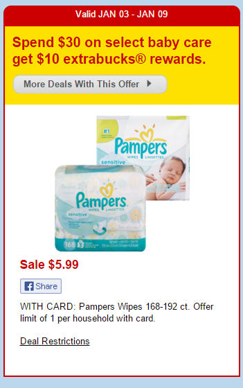 New Pampers Wipes Coupons = $3.09 for 168-192 Packs!