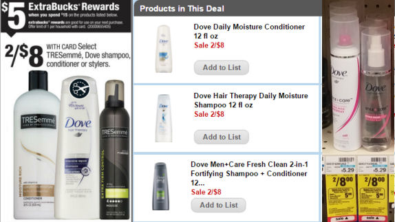 Dove & Dove M+C Hair Care As Low As $1 Each!