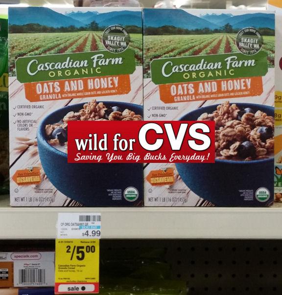Cascadian Farm Granola Cereal $1.50