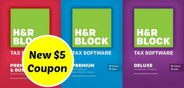 NEW H&R Block Software Coupon + Free Tax Filing!