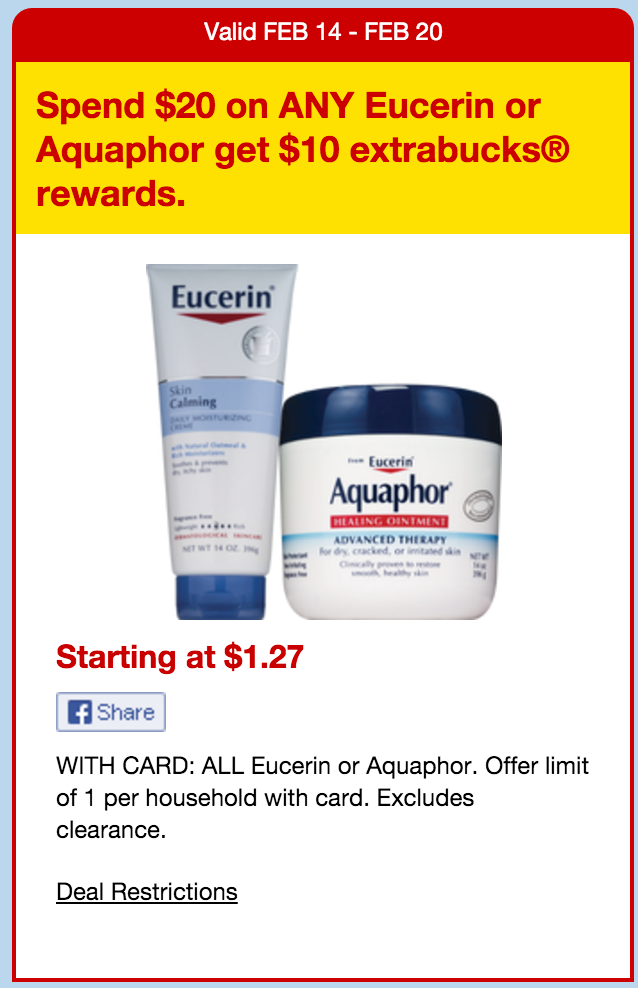 picture relating to Aquaphor Printable Coupon called Eucerin aquaphor coupon 2018 : Vitacost 10 per cent off
